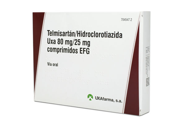 Telmisartán/Hidroclorotiazida Uxa